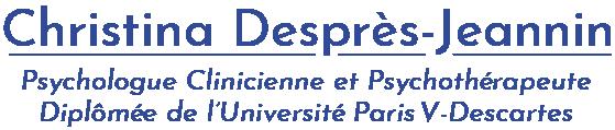 Christina Deprès-Jeannin Psycologue Clinicienne et Psychotérapeute